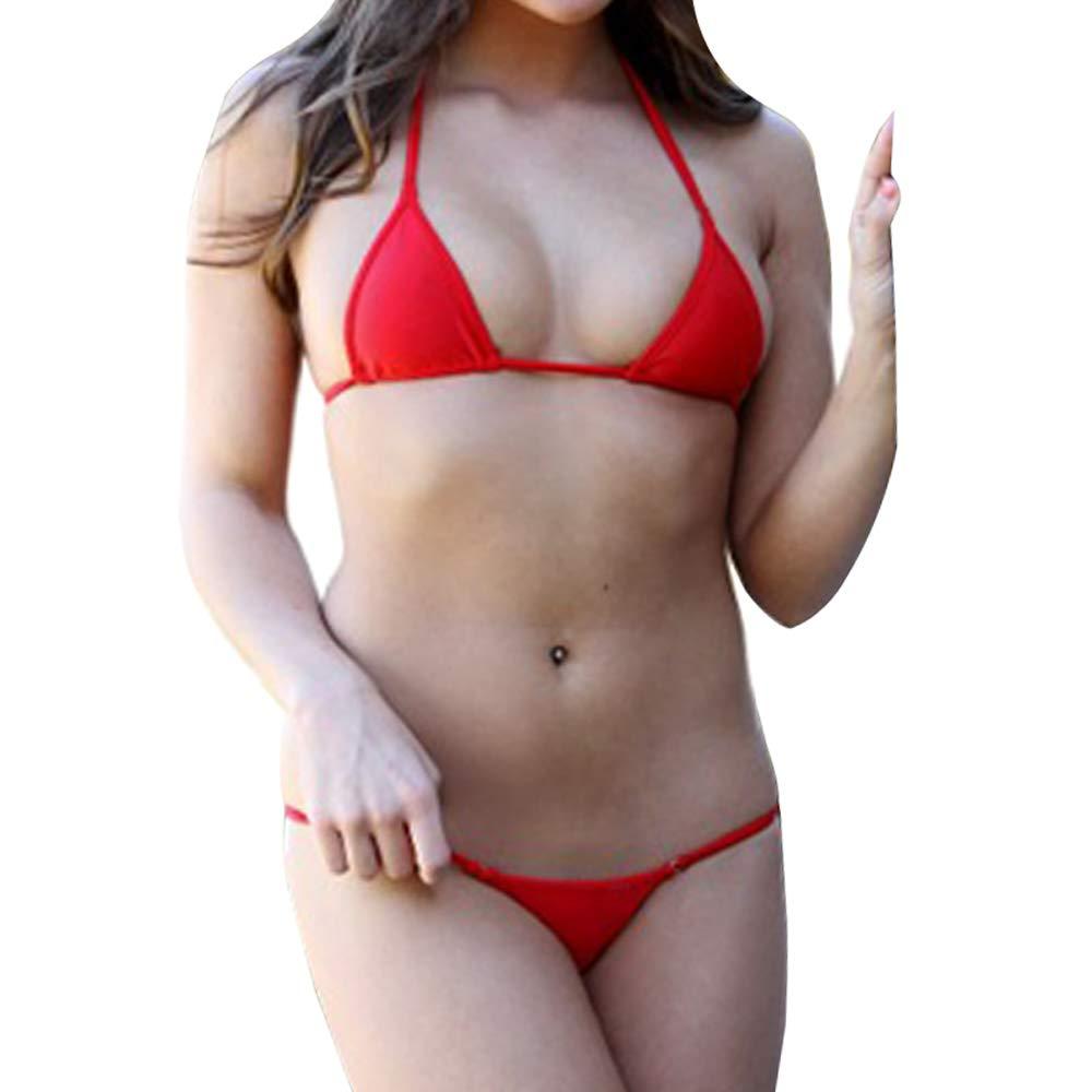 SHERRYLO Maillot De Bain Femme Mini Micro Bikini Swimwear Women Triangle Top String Thong Bottom