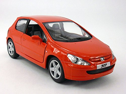 5 inch - 2001 Peugeot 307 XLI 1/32 Scale Diecast Model - Red
