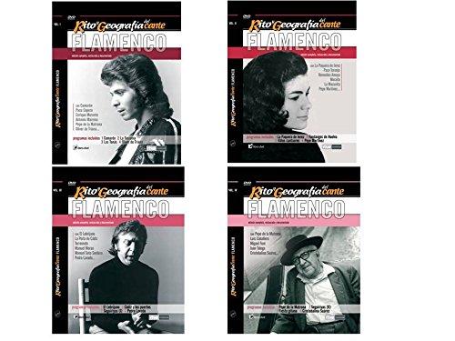 PACK A de RITO Y GEOGRAFÍA DEL CANTE FLAMENCO - Vol. I CAMARÓN,... Vol II PAQUERA DE JEREZ,... Vol III EL LEBRIJANO,... Vol IV PEPE DE LA MATRONA,... . Con 4 LIBROS de 72 pags. y tamaño 19 x 14,5 cm.