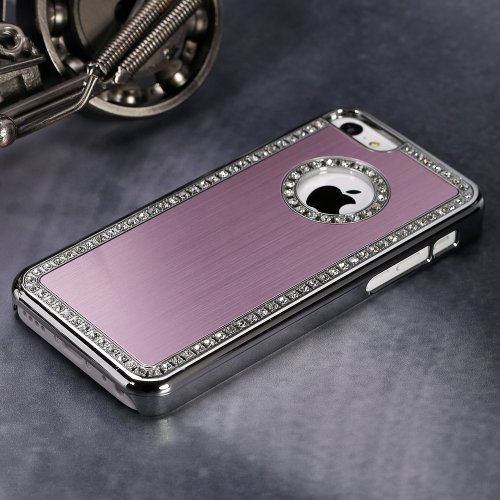 Apple Iphone 6/6s Deluxe Pink brushed aluminum diamond case bling cover for Apple Iphone 6/6s (4.7 inch)