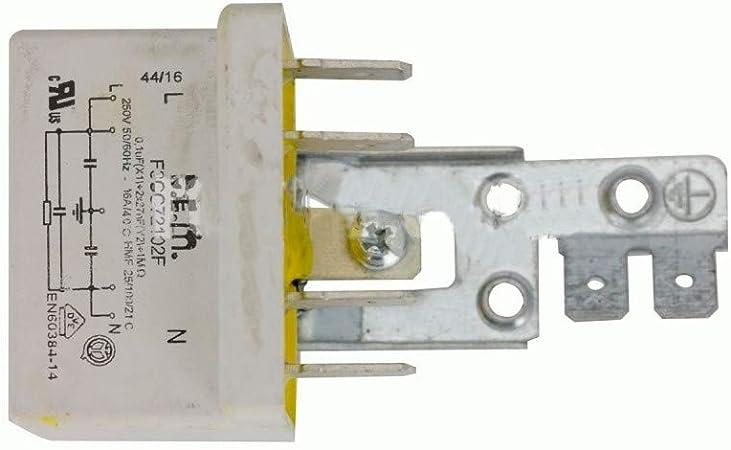 Recamania Condensador Trabajo Permanente Lavadora Standard 0, 1 MF ...