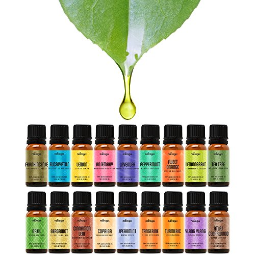 Natrogix Nirvana Essential Oils - Top 18 Essential Oil Set 100% Pure Therapeutic Grade 18/10ml Incl. Lavender, Moroccan Rosemary, Tea Tree, Eucalyptus, Lemongrass and 13 More w/Free E-Book by Natrogix (Image #2)