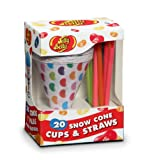 paper snow cones - Jelly Belly JB15928 20 Disposable Snow Cone Cups and Straws