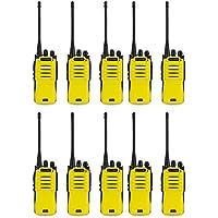 Amcrest ATR-22 UHF Portable Radio Walkie Talkie Frequency Range 400-470 MHz FM Transceiver 16 Programmable Channels High Power Flashlight Walkie-Talkie Two-Way Radio FCC Cert.