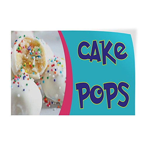 Cake Pops Indoor Store Sign Vinyl Decal Sticker - 9.25inx24in, Cake Pops Bakery Stickers