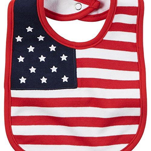 Carters 4th July Flag Bib