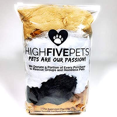 High-Five-Pets-Dog-Squeaky-Toys-No-Stuffing-Dog-Toys-Set-No-Dangerous-Fluff-to-Chew-or-Swallow-2-Squeakers-Big-Plush-Dog-Toys-for-Small-Dogs-and-Large-Dogs-Alike-Bulk-Bundle-Pack-of-5