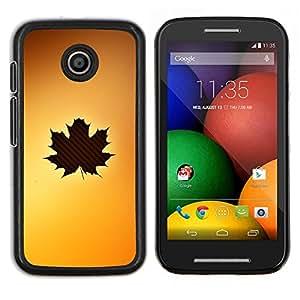 LECELL--Funda protectora / Cubierta / Piel For Motorola Moto E -- Arte de la hoja del árbol del otoño de Brown amarillo arce --