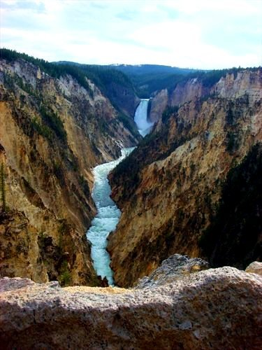 Grand Canyon Yellowstone Park - Little Grand Canyon, Yellowstone National Park - Framed Photo Art Print 11
