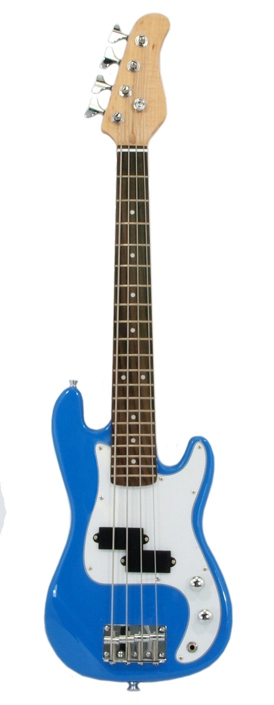ELECTRIC BASS GUITAR - BLUE - Small Scale 36 Inch Childrens Mini Kids NEW EDMBG B005QOQ9Z0