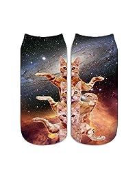 Women Men Boys Girl Sport Short Sock Sox Cactus and Cat Low Cut Toe Stockings