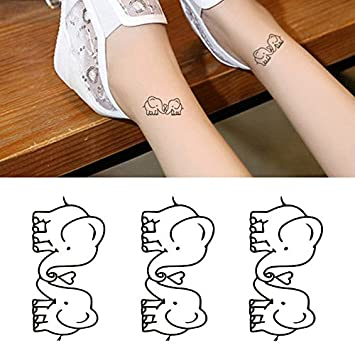 Amazon Com Oottati Small Cute Temporary Tattoo Two Couple