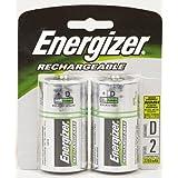 Energizer Rechargeable Batteries Size D Nimh Blister Pack 2