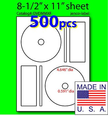 (Jenco-Label Dvdmmxf, 500 Cd/Dvd Labels Memorex Compatible Full Face)