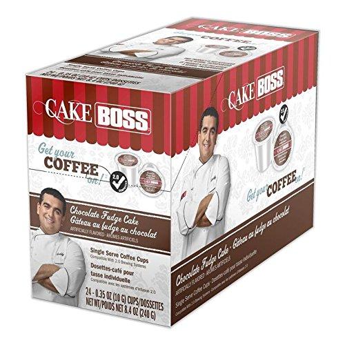 Dark Chocolate Fudge Cake (Cake Boss Coffee, Chocolate Fudge Cake, 24 Count, 8.4 OZ)