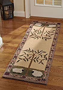 Amazon Com Park Designs Willow And Sheep Hooked Rug