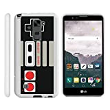 MINITURTLE Case Compatible w/ [LG Stylus 2 Case, LG G Stylo 2 Case][Snap Shell] Hard Plastic Slim White Snap on case w/ Unique Designs Game Controller For Sale
