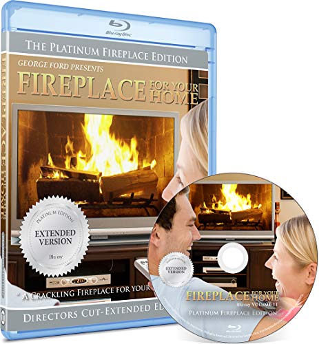 Fireplace DVD For Your Home Series - Platinum Edition - Burning Wood - Long Play Blu-ray (Definition Fireplace High)