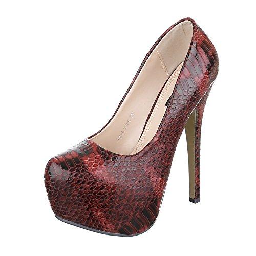 Rojo Mujer Ital Ital Plataforma Design Design pSzzw7xHqP