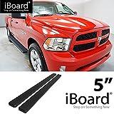 "eBoard Running Boards Matte Black 5"" Fits 09-15 Dodge Ram 1500 10-15 Ram 2500/3500 Crew Cab"