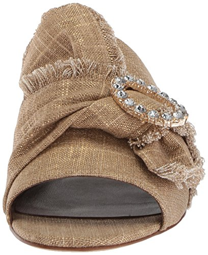 's Linen Women nine Sandalia Slide west lino Gold Lafay 1E1qAx4