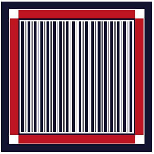 TigerTie tissu nicki en rouge marine bleu foncé blanc-gris rayé à motifs - tissu taille 50 x 50 cm - 100% soie