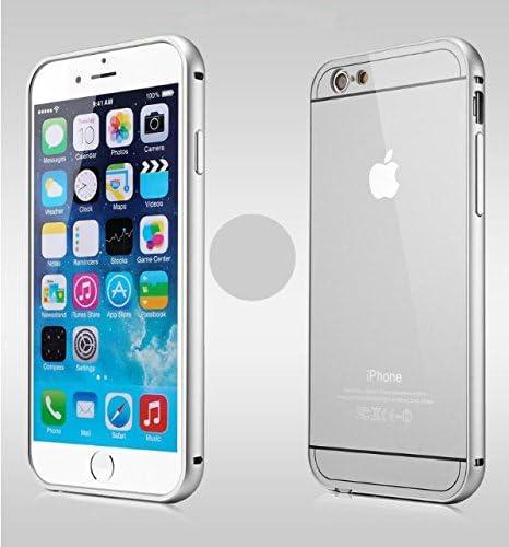 Chivel™ Protector de aluminio marco plástico duro placa trasera púa para iPhone 5/iPhone 6/iPhone 6 Plus (iPhone 5/5S (plata)): Amazon.es: Electrónica