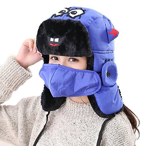 Ear Flap Ushanka Black Bomber De SOOCO Hiking A Unisex Winter Prueba Máscara Viento Esquí Mens Para Hat El De Winter Warm Patinaje 7wxP1Sq