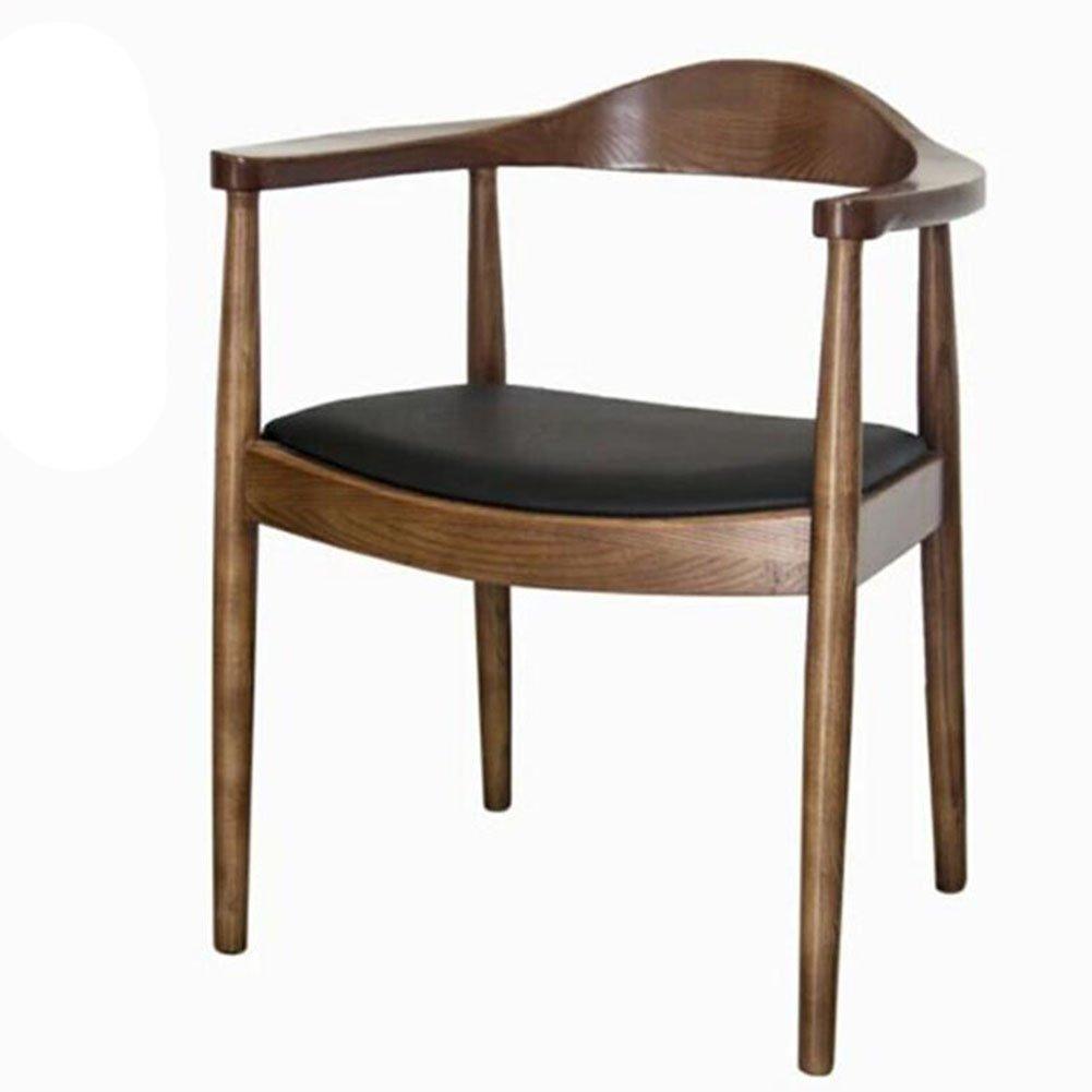 ダイニングチェア チェア Chair ッション 肘掛けシンプルファッションソリッドウッドコーヒーショッププレジデントホテル北ヨーロッパ TINGTING (色 : Light walnut) B07F9W1DQ6Light walnut