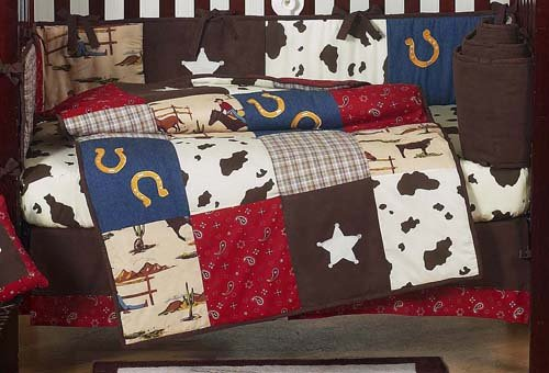 amazon com sweet jojo designs 9 piece wild west western horse