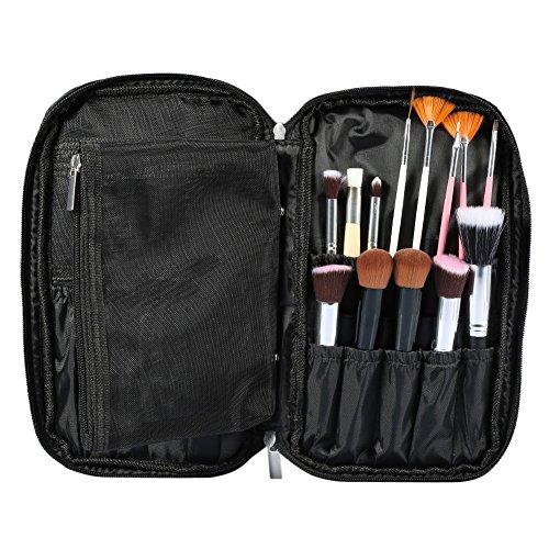 Makeup brushes Bag profesional belleza Funda Portátil con gran capacidad de almacenamiento para viajar y hogar