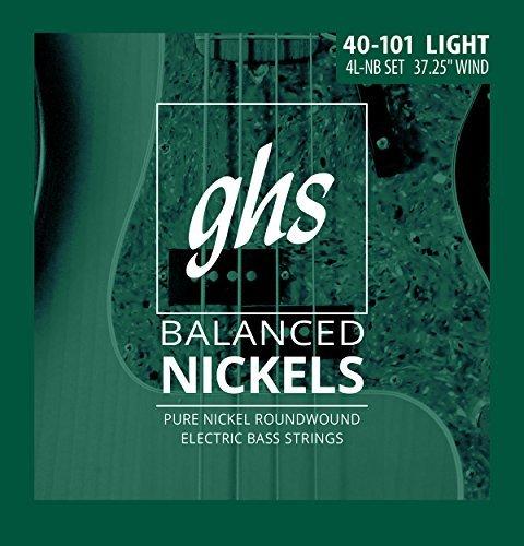 GHS Strings 4L-NB Balanced Nickels 4-Bass Electric Guitar Strings Light Gauge (37.25 winding) 【TEA】 [並行輸入品] B07FRX6MNR