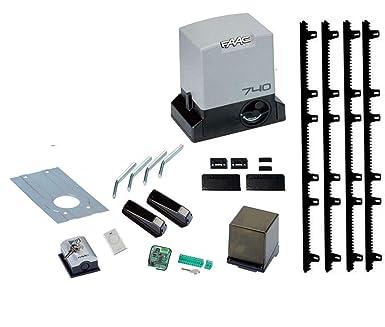 Dieffematic - Kit de automatización de Puerta corredera FAAC Delta 2 Kit 740 500 kg 4 m Cremallera: Amazon.es: Industria, empresas y ciencia