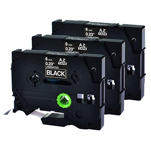 9600 Electronic Labeling System - GREENCYCLE 3 Pack Compatible TZe-315 TZe315 TZ-315 TZ315 TZE 315 Standard Laminated Tze Tz Tape White on Black 6mm (1/4