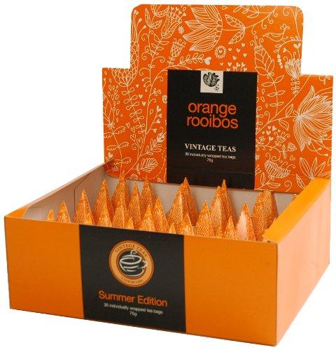 Vintage Teas Rotbuschtee mit Orange, 30 einzeln verpackte Pyramidenbeutel, 1er Pack (1 x 75 g)