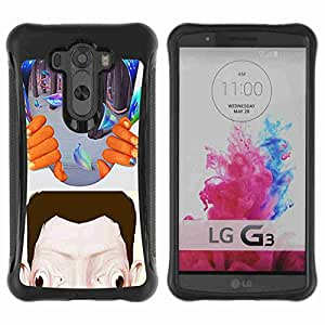 A-type Arte & diseño Anti-Slip Shockproof TPU Fundas Cover Cubre Case para LG G3 / D855 / D850 / D851 ( Abstract Psychedelic Art )