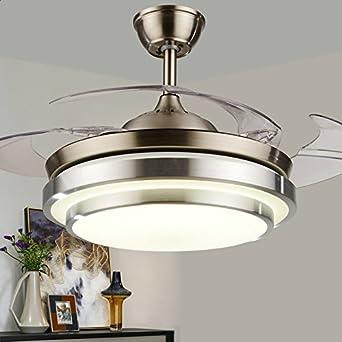 Etonnant GQLB Ventilateur De Plafond Furtif 24W Lampe Ventilateur Salon Salle à  Manger Chambre à Coucher Moderne