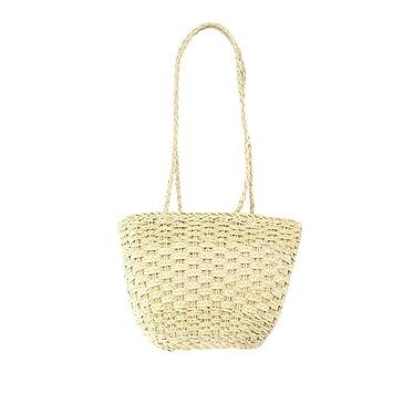 Flower205 Sac de plage Plage ext/érieure ronde rotin tiss/é /à la main sac mode casual grande capacit/é sac de paille sac de rangement sac de plage Sac /à main en rotin Vintage