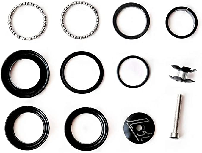 34mm Threadless Bicycle Bike Headset Sealed Bearing  Fixed Gear With Tops Cap K