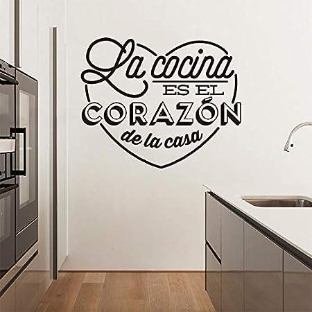 yiyiyaya Pegatinas de Pared Cocina española Corazón Vinilo Mural ...