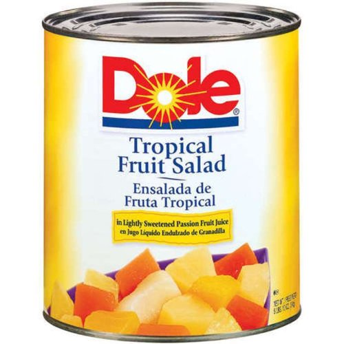 - Dole Tropical Fruit Salad, 106 Ounce Cans (Pack of 6)