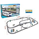 Electric Train Set for Kids Express Toy with Tracks & Accessories by EazyToys - Bullet Train Edition