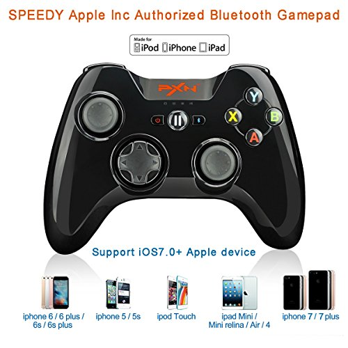 Price comparison product image Apple MFi Certified - PXN PXN-6603 Speedy Wireless Gamepad Game Controller Made for iPhone / iPad / iPod touch Color Black