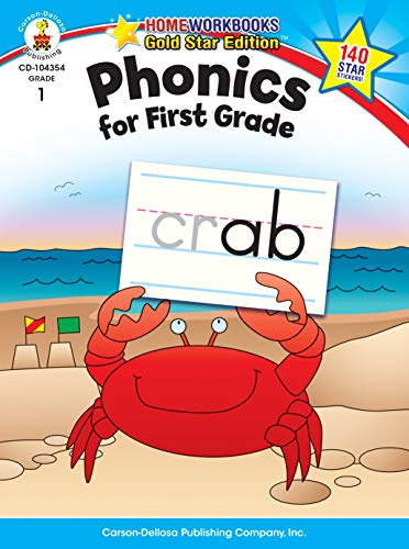 Digraphs Blends And (Phonics for First Grade, Grade 1: Gold Star Edition (Home Workbooks))