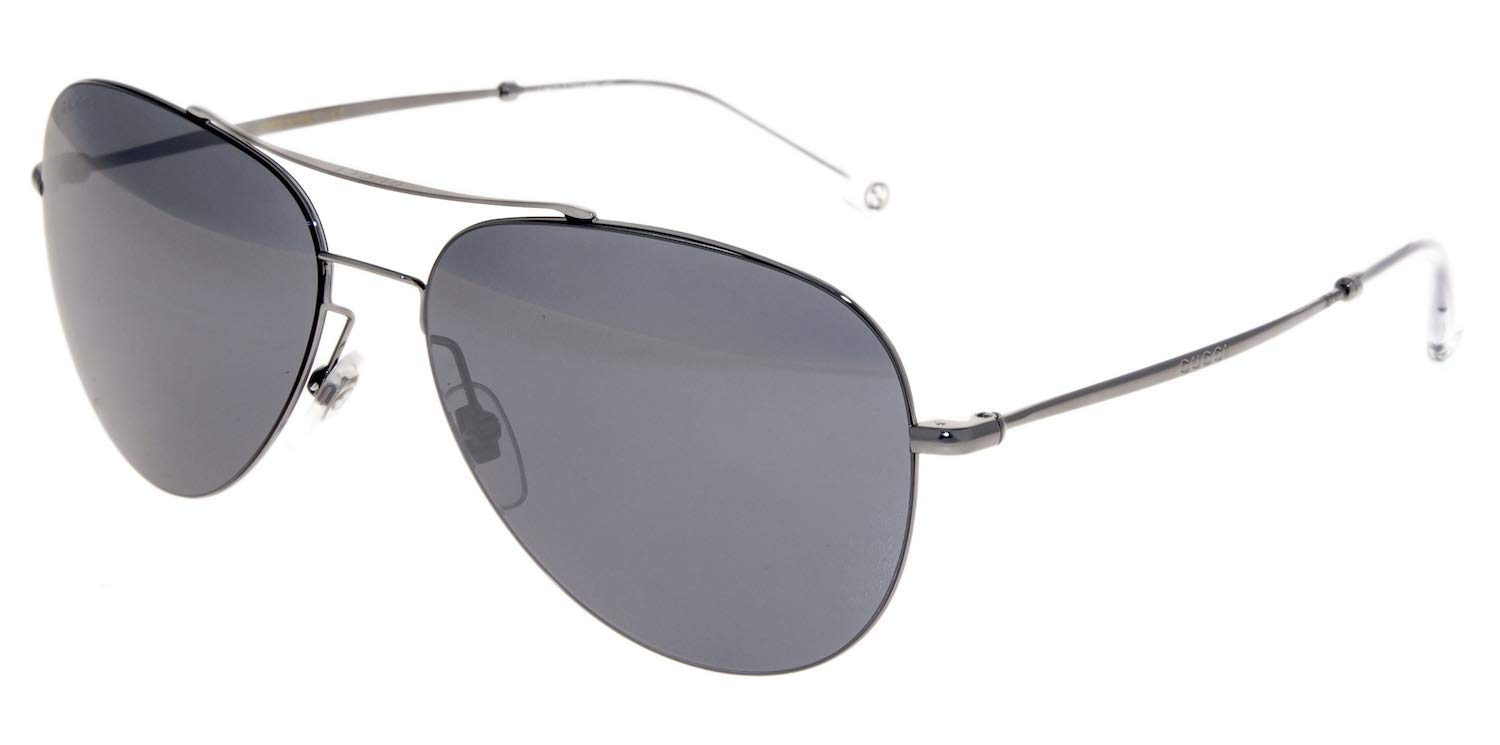 Gucci Sunglasses - 2245 / Frame: Dark Ruthenium Lens: Black mirror by Gucci (Image #1)