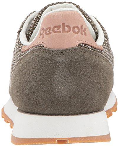 Reebok Menns Cl Lær Ebk Sneaker Hær Grønn / Kritt / Sand Sto