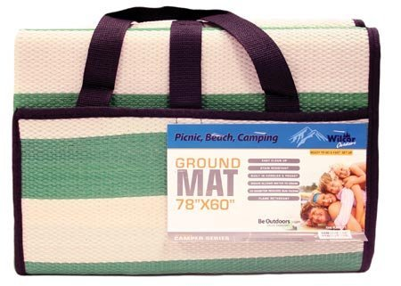 Compact Outdoor Ground Mat for Picnics, RV, Beach, Camping, 60x78-inch, (Random Color) ()