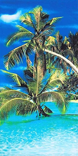 Tropical Amazing Paradise Velour 30x60 Beach/Bath Towel