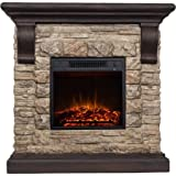 Polyfiber Electric Fireplace with 41'' Mantle