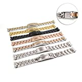 20mm Two Tone Gold Silver Watch Band Solid Curved End Screw Links Bracelet For OYSTER SUBMARINER GMT SEL